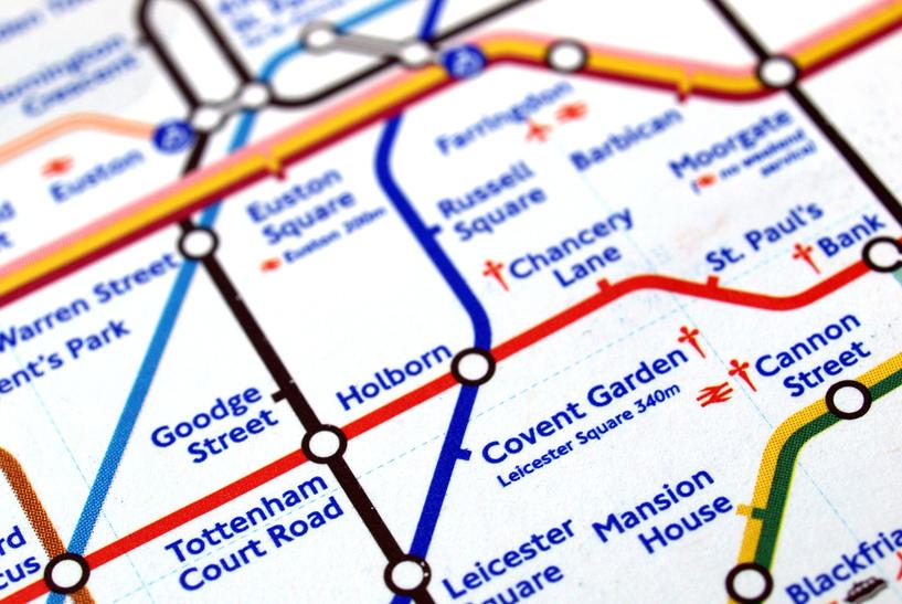 London Tube desnudo para trabajar